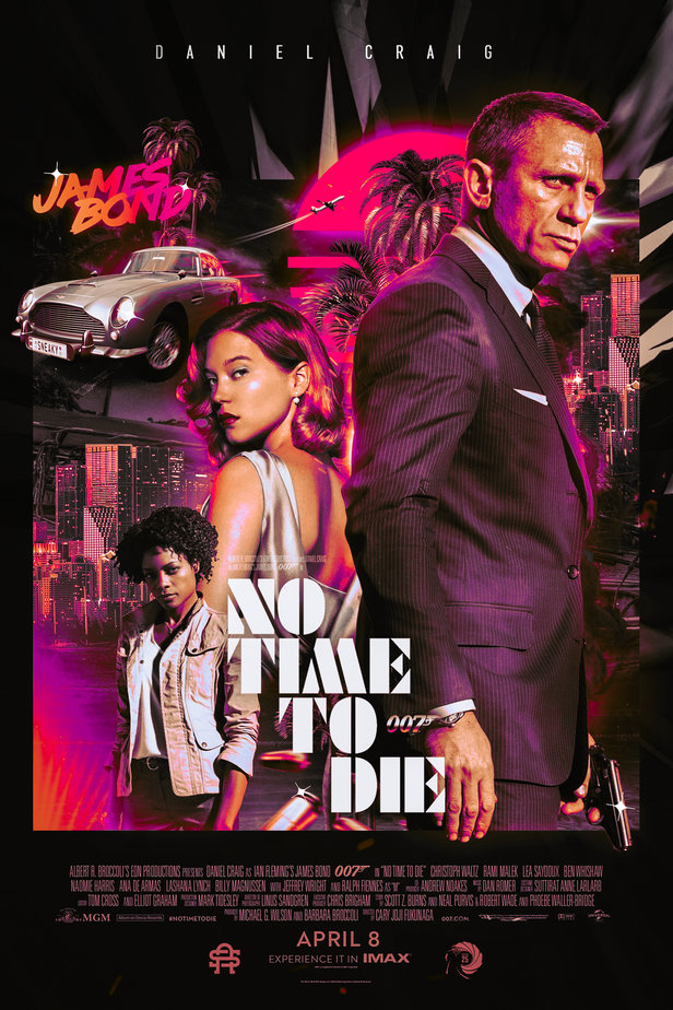 No Time to Die 007 movie art print poster silk or canvas 16x24 24x36 inch living room bedroom decorative painting image