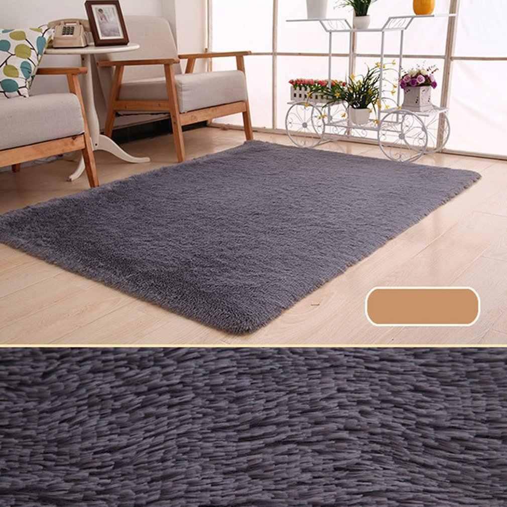 Super suave Alfombra de lana alfombra interior moderna sala de estar 50CM * 80CM alfombras alfombra de dormitorio alfombra de suelo gris bebé alfombra infantil