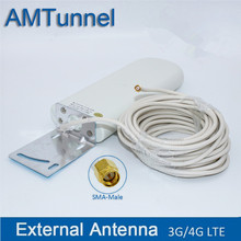 Wifi kabel antenne 3G 4G lte antennen SMA WiFi outdoor antenne 2,4 Ghz antenne mit mit 10m kabel für Huawei ZTE router modem