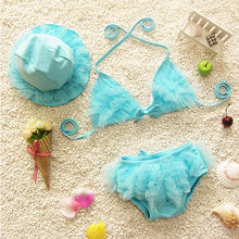 Girls Flower Swimsuit Swimwear Baby Child Beachwear Bikini Set Swimming Bathing Suit(China)