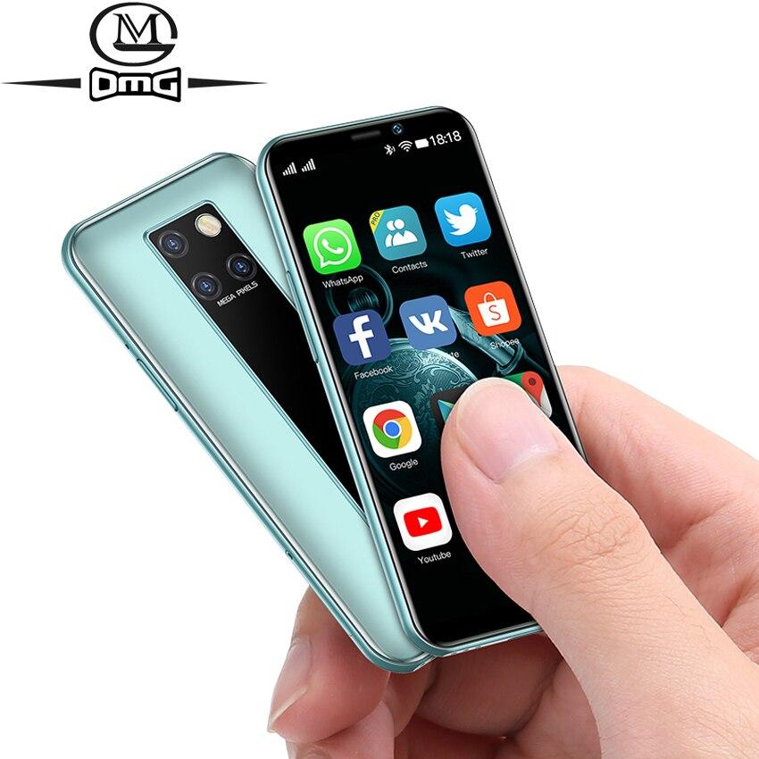 """작은 미니 안 드 로이드 9.0 스마트 폰 저렴 한 4G 쿼드 코어 얼굴 ID 휴대 전화 3 기가 바이트 RAM 32 기가 바이트 64 기가 바이트 ROM 3.49 """"단일 카메라 휴대 전화"""