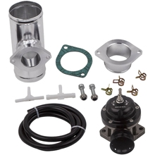 25 PSI Boost type-RS интеркулер предохранительный клапан+ 2,5 дюймов BOV фланец трубы Adapte