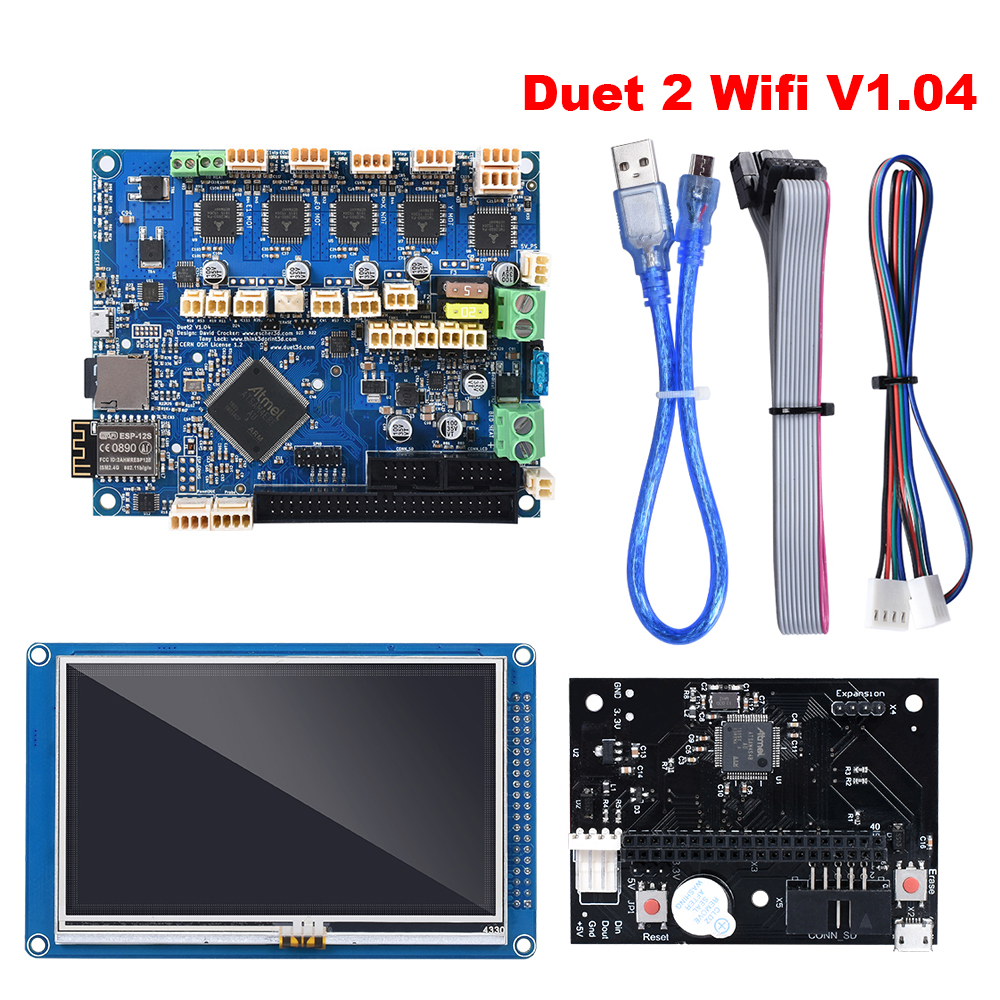Duet 2 Wifi V1 04 Control Board Cloned DuetWifi 32 Bit board With 4 3inch 5inch 7inch PanelDue Touch Screen Controller For BLV MGN SKR