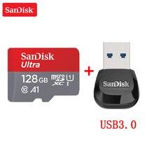 Cartão de memória sandisk, classe 10 16gb 32gb 64gb 128gb cartão de memória c10 mini cartão sd cartão sdhc sdxc UHS I tf para smartphone/tv