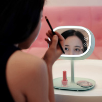 Creactive Multi function LED Fairy Makeup Mirror Lamp Adjustable Beauty Cosmetic Mirror Makeup Mirrors Table Lamp Home Decor
