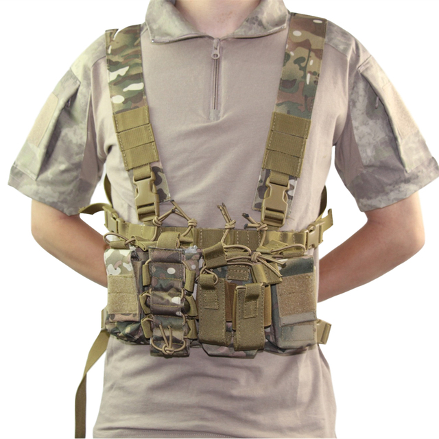 Military equipment tactical Vest Airsoft Paintball Carrier Strike chaleco chest rig Pack Pouch Light Weight Heavy Duty vest 4