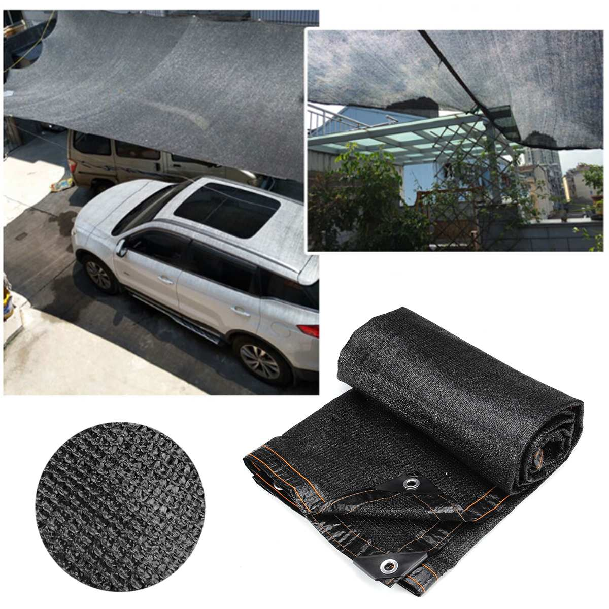 Anti-UV Car Cover Sunshade Net Outdoor Garden Sunscreen Sunblock Shade Cloth Net Plant Greenhouse Cover 80% Shading Rate