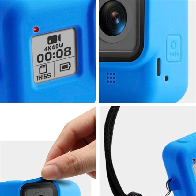 Silicon Protective Cover for GoPro Hero 9 8 Black Sleeve Housing Case Frame with Lanyard Accessory For Go pro 9 8 Case 5