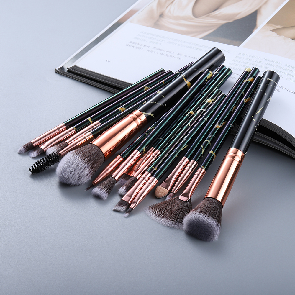 FLD5/15Pcs Makeup Brushes Tool Set Cosmetic Powder Eye Shadow Foundation Blush Blending Beauty Make Up Brush Maquiagem 3