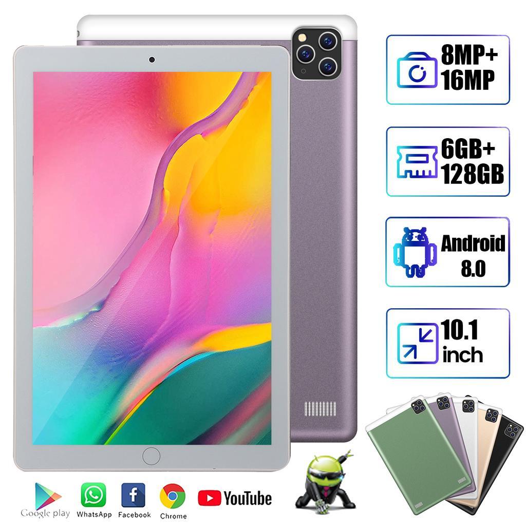 (Chaude) Android 9.0 tablette Pc 10.1 pouces 6G + 128GB WiFi tablette Arge 1280*800 IPS écran double SIM caméras 4G appel téléphone enfants tablette