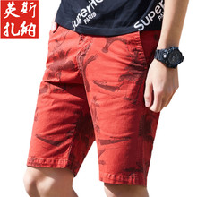 ICCZANA Brand  Cargo Shorts Men Camouflage Red New Style Cargo Short�Heren Hot Sale Camo Outdoor Short Pants Men YF