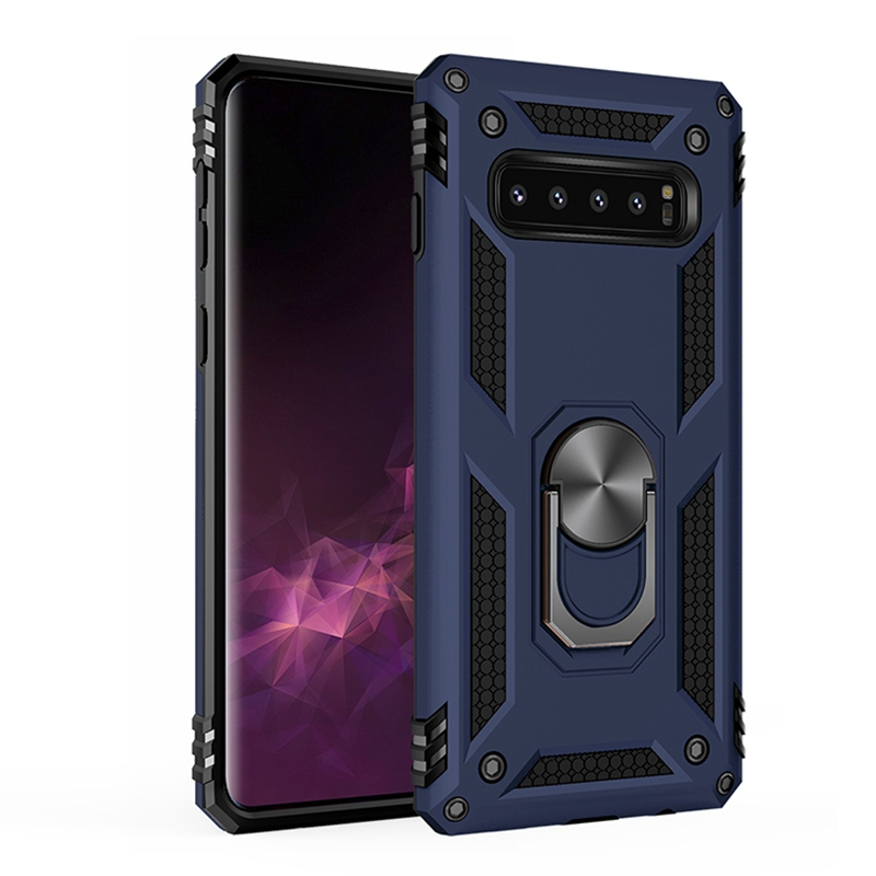 S10 Plus Luxury Armor For Samsung Galaxy S10 Case Ring Bracket For Samsung Galaxy S10 Plus Case Hard PC Soft TPU 2in1Phone Cover