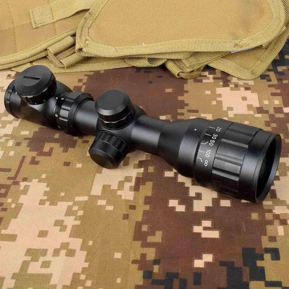 Reflex 2-6x32 Tactical czerwony zielony Mil-dot Sight Rifle Scope Picatinny Rail Mount Outdoor Hunting