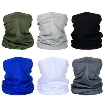4/6 pcs Multi-Functional Solid Color Sunshade Magic Turban Fashionable And High Quality Wristband Hairband Head Scarf