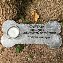 Stones Dog-Memorial Grave for Garden Backyard Markersjsys Pet-Gifts Bone-Shaped Outdoors