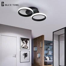 18W Indoor Ceiling Lamp For Home Modern Led Light Corridor Living room Bedroom Fixtures Black White Lustres