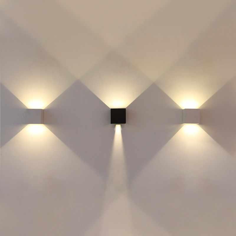 مصباح Led في الهواء الطلق مقاوم للماء الجدار مصباح الجدار الخارجي مصباح الشرفة مصباح شرفة عمود الإضاءة 6w10w الألومنيوم alloyAC85-220V IP65