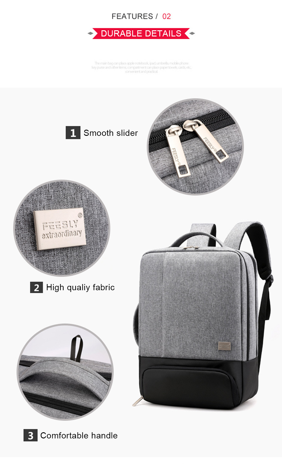 Mens Backpack Laptop Backpacks 17 Inch 15.6'' Anti Theft Male Business Bags Notebook Trip Back Pack Office Women Travel Bagpack (5)