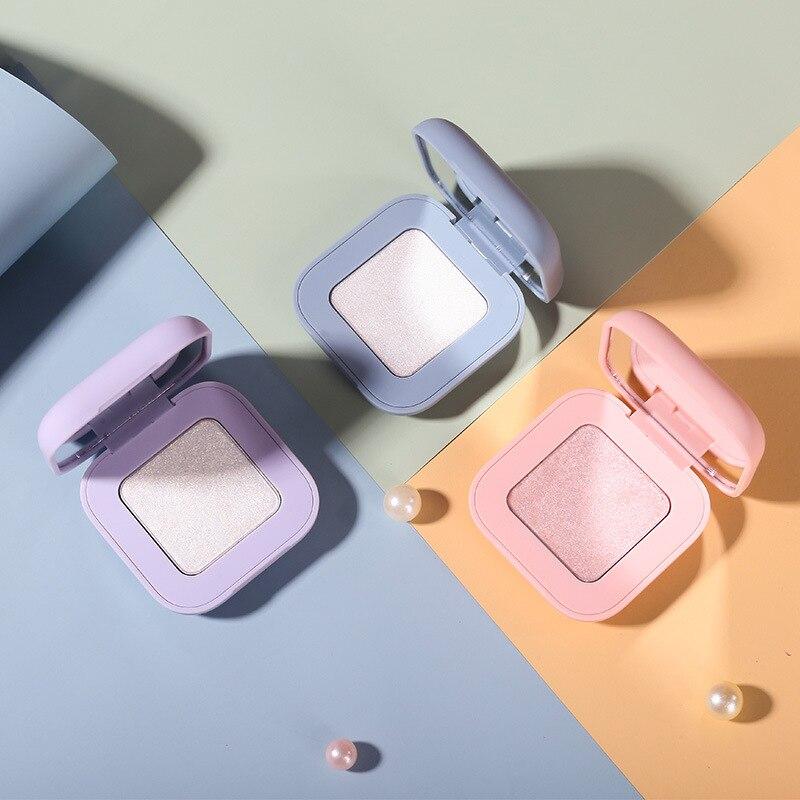 Glitter Highlighter Illuminator Holographische frauen Make-Up Lidschatten-palette Shimmer Bronzer Highlight Lidschatten Kosmetik Glow Kit 3 farben