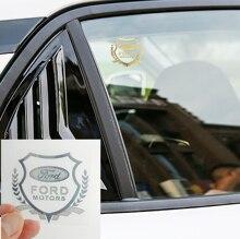 1 шт. Стайлинг автомобиля 3D металлическая наклейка значок на окно автомобиля наклейки для Fords Focu 2 3 1 MK2 MK3 MK1 Fusion аксессуары автостайлинг
