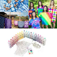 18 Bottles Tulip One Step Tie Dye Kit Fabric Textile Permanent Paint Colours Craft Arts Clothes for Solo Projects Dyes Paint