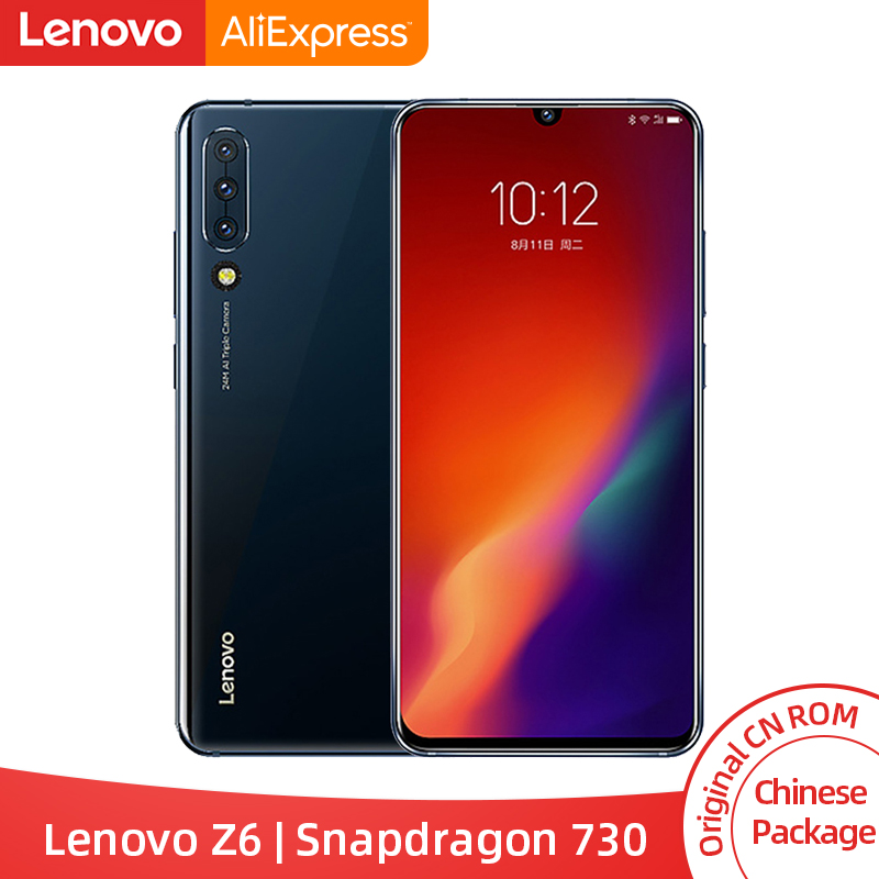 Оригинальный lenovo Z6 Snapdragon 730 6GB ram смартфон Quad камеры 6,39 дюймов OLED экран в экране отпечатков пальцев 4G LTE