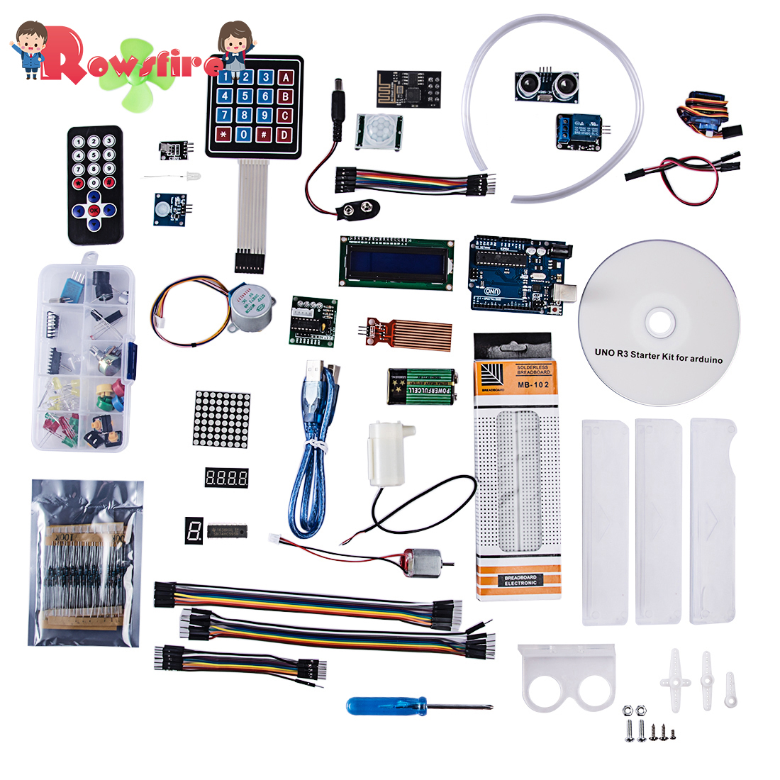 New R3 Deluxe Basic Starter Kit For Beginner With Wifi Module For Arduino