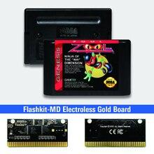 Pcb-Card Video-Game-Console Sega Flashkit Electroless Gold for Genesis Megadrive Zool-Usa-Label