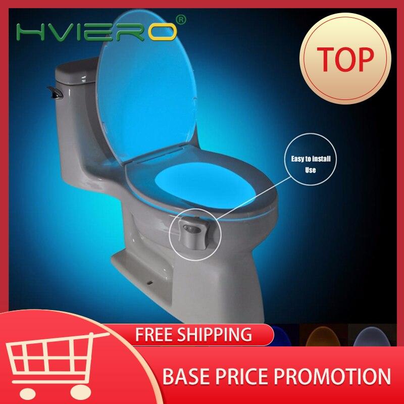Toilet Led Seat Night Light Smart PIR Motion Sensor  8Colors Waterproof Backlight For Toilet Bowl Luminaria Lamp WC Toilet Led