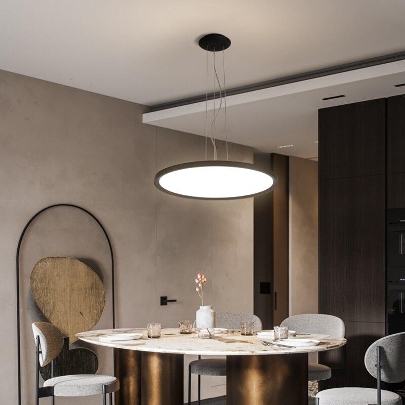 Ultra-thin Modern Led Pendant Lights For Dining Room Shop Bar Project Living Room Pendant Lamp 110V 220V Hanging Lights Fixtures