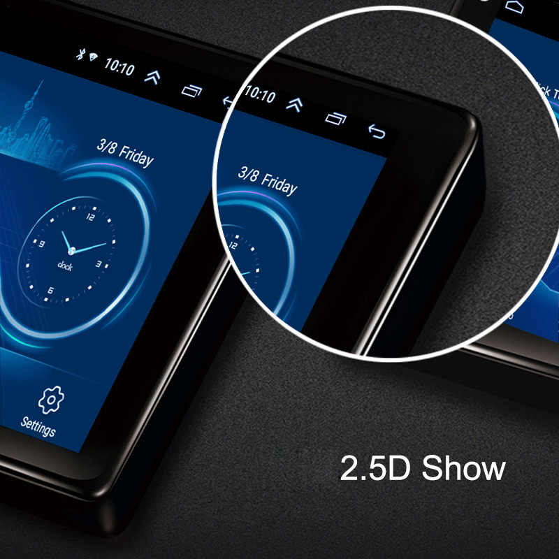 9 Inch 2.5D Touch Screen Android 8.1 Auto Dvd Gps Navigatie Voor Mitsubishi Pajero 2006-2014