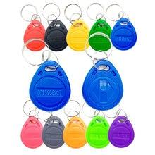 Etiquetas RFID para Control de acceso, 100 Uds., 125KHz, 11 colores, TK4100 EM4100, tarjetas RFID para mandos de proximidad, tiempo de asistencia