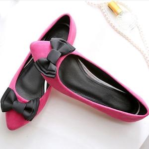 Image 4 - BEYARNEDrivingกระเป๋ารองเท้าผู้หญิงแบนรองเท้าสุภาพสตรีรองเท้าแตะสีดำและสีม่วงโบว์PLUSขนาดใหม่ARRIVAL SLIPสำหรับPARTY