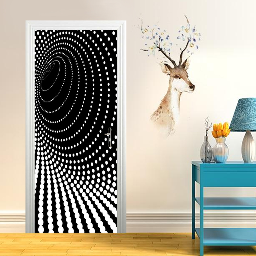 3D Creative Waterproof Door Sticker Self-Adhesive Wall Sticker Exquisite Fashion Wall Decal Wall Applique For Bedroom
