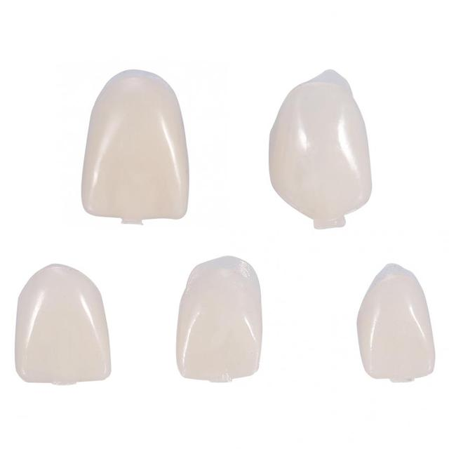 50Pcs Dental Teeth Temporary Realistic Oral Care Anterior Molar Resin Dental Teeth Crown Fake Tooth Whitening Tool Accessories
