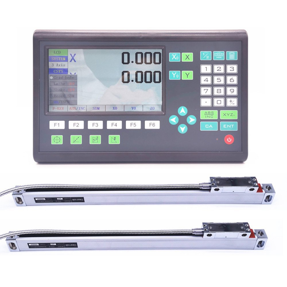 High Accuracy 2 Axis LCD DRO Digital Readout and 2 Pieces 0-1000mm Linear Scale Encoder Sensor For Milling Lathe Turning Machine