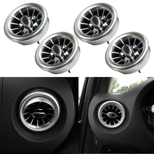 4pcs Plastic Turbo Style Air AC Vent Outlet Trim Fit For Mercedes Benz V Class Vito Viano Metris W447 2015 2016 2017 2018 2019 lapetus rear roof top air conditioning ac outlet vent frame cover trim fit for mercedes benz vito w447 2014 2015 2016 2017 2018