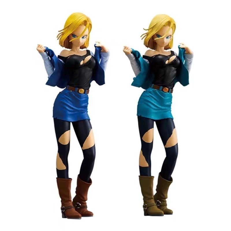 25cm Dragonball Z Glitter Glamours Action Figure Figures <font><b>Sexy</b></font> Android No. <font><b>18</b></font> Assortment figure Collection Toys image