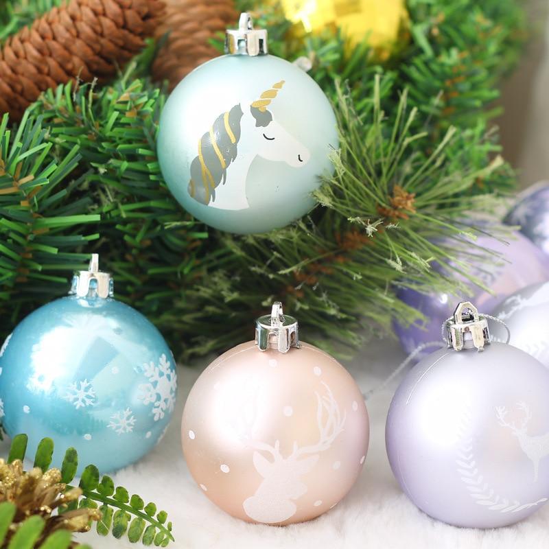 20//30pcs Christmas Acrylic Crystal Drops Ornaments Xmas Tree Home Party Decor LI