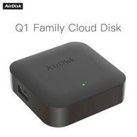 Caja de disco duro móvil AirDisk Q1, servidor de almacenamiento de red doméstica, nube privada, área de red local, clo personal