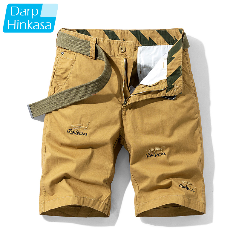 Summer New Casual Shorts Men's Casual Loose Five-point Pants Overalls Men's Shorts Cotton Solid Color Leisure Sports Outdoor