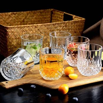 Thicken Glass Set Tea Drink Glass Whiskey Wine Beer Drink Cup Household Drinking Cup Whiskey Glass Glass Cups Insulated Wine фото