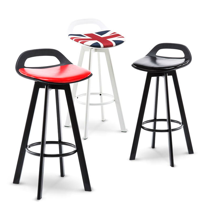 Bar Chair Modern Simple High Footed Stool   Lift Bench Domestic Back  Northern Europe