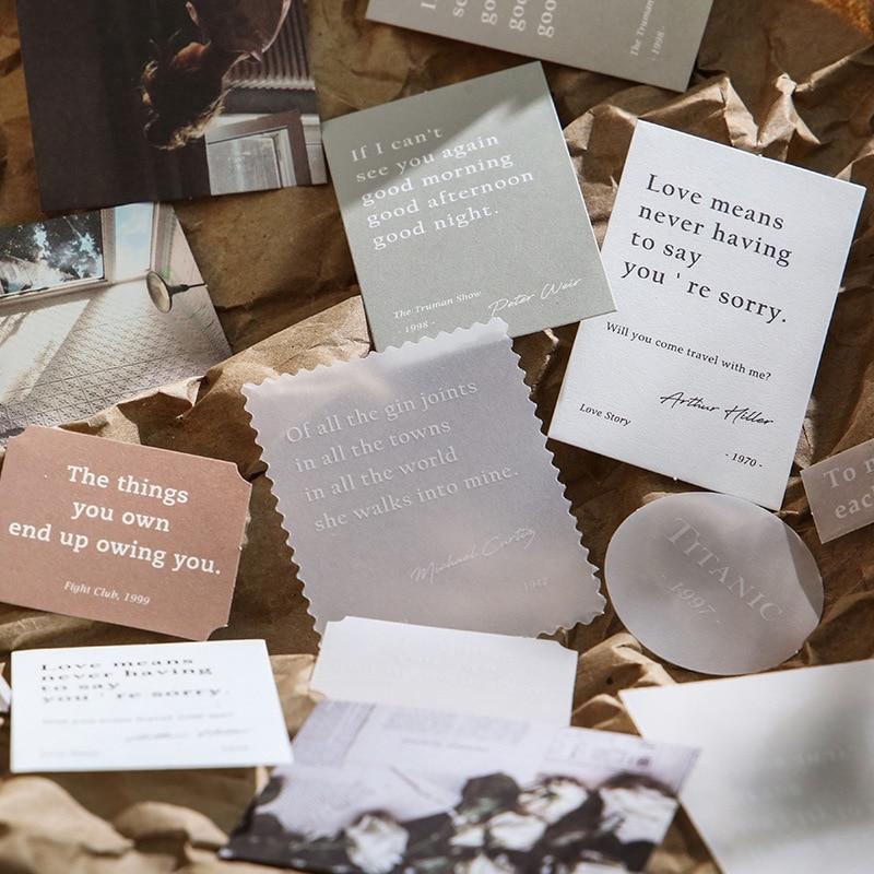 Mohamm 30 шт Moment Series DIY декоративные наклейки креативные Скрапбукинг Канцелярские Товары для школы