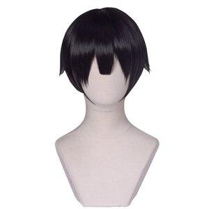 Image 5 - UWOWO toilette relié hanako kun/Jibaku Shounen hanako kun Cosplay perruque 25cm cheveux noirs naturels