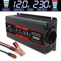 Power Inverter 1500W/2000W/2600W LCD Display DC 12V zu AC 220V Solar 2 USB Auto Transformator Konvertieren EU Buchse Geändert Sinus Welle