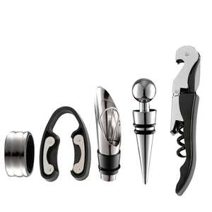 Wine Decanter Cutter Bottle-Opener Stainless-Steel 5pcs-Tool Kit-Set Pourer Including