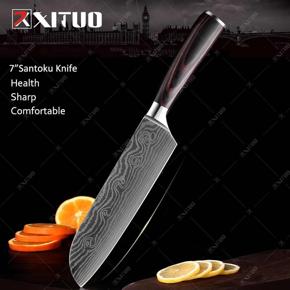 7 in Santoku knife