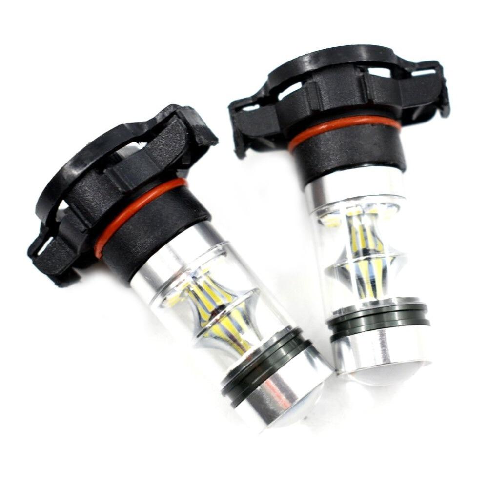 2x 5202 H16 PS24W forCREE High Power 100W 6000K Super White LED Fog DRL Lights Bulb(China)