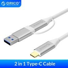 ORICO 2 in 1 interface Kabel Typ-C zu C & A Dual-Stecker Kabel USB 3,0 Hohe geschwindigkeit Übertragung 5A 10Gpbs Ladekabel Für Telefon